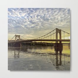 Sunrise over Ninth Street Bridge in Pittsburgh (Instagram) Metal Print