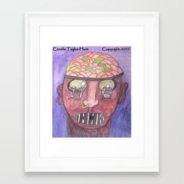 What Causes Major Depression? Framed Art Print