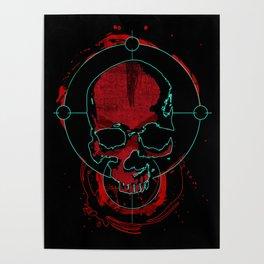 Skull red Poster