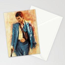 Digital painting of Tony Montana - Scarface Stationery Cards