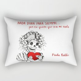 Frida Kahlo - Eres mi nada Rectangular Pillow