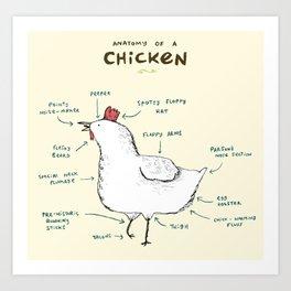 Anatomy of a Chicken Art Print