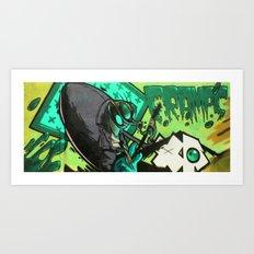 HUMAN FLY Art Print