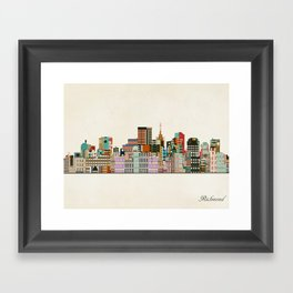 richmond virginia skyline Framed Art Print