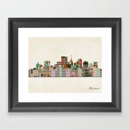 richmond virginia skyline Framed Art Print