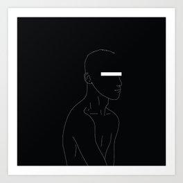 LINE #1 (Dark) Art Print