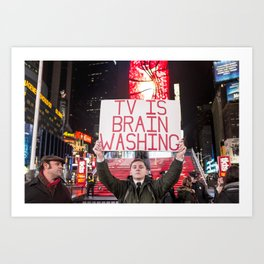 TV is Brainwashing Art Print