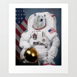 Where No Polar Bear Has Gone Before Art Print