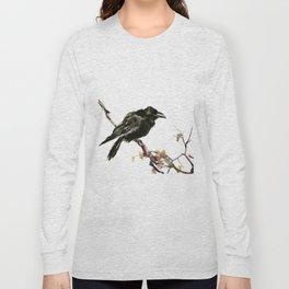 Raven, Raven art, Raven Design, Crow painting Long Sleeve T-shirt