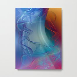 The Beauty of Line and Color Metal Print