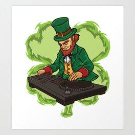 DJ Leprechaun Live On Stage - Irish Electro Music Art Print