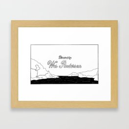 DIRECTED BY WES Framed Art Print