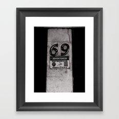 69 Just do it Framed Art Print