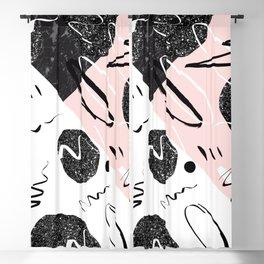 Gray Black Marble Blush White Abstract Glam #1 #trendy #decor #art #society6 Blackout Curtain
