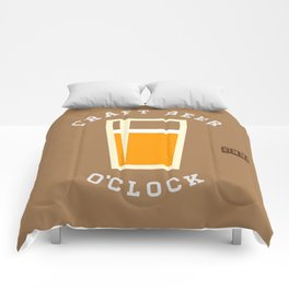 Craft Beer O'Clock Comforters