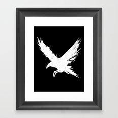 The Raven (Black Version) Framed Art Print