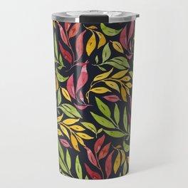 Loose Leaves - warm colors Travel Mug