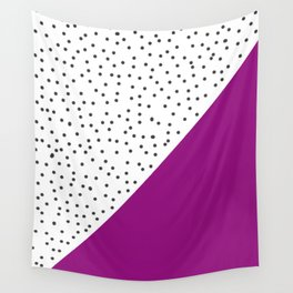 Geometric grey and purple design Wall Tapestry