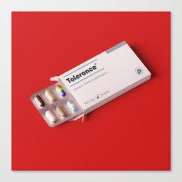 Tolerance pills Canvas Print