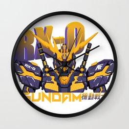 Gundam RX-0 Wall Clock