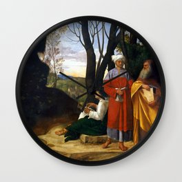 Giorgione Three Philosophers Wall Clock