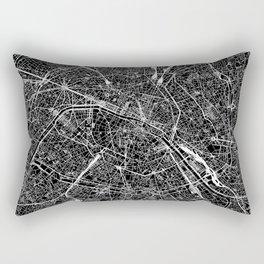 Paris Black Map Rectangular Pillow