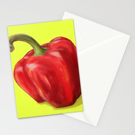 Red Paprika on Yellow Stationery Cards