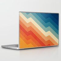 stripe Laptop & iPad Skins featuring Barricade by Tracie Andrews