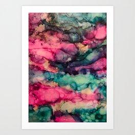 Wavy Abstract Pattern Art Print