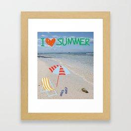I love Summer Framed Art Print