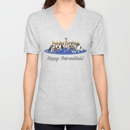 Happy Paw-nukkah! - Happy Hannukah Unisex V-Neck