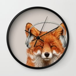 The Musical Fox Wall Clock