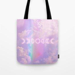 Magic Rainbow and Moon Tote Bag