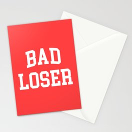 Bad Loser Offensive Quote Stationery Cards
