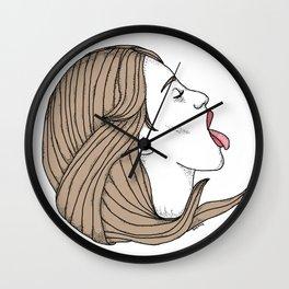 I licked it so it's mine Wall Clock