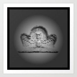 Flying hourglass Art Print
