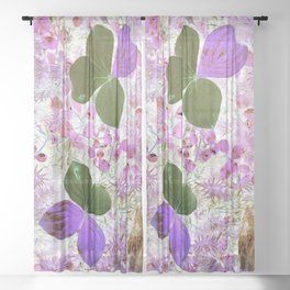 Unidentified inverted fauna Sheer Curtain