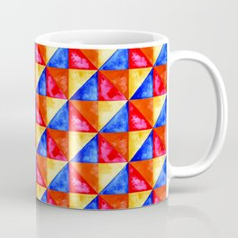 Colorful Watercolor Pinwheel Design Coffee Mug
