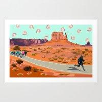 forrest gump Art Prints featuring forrest gump by rachel mindes