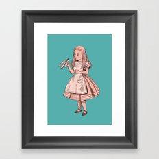 Drink Me - Alice in Wonderland illustration Framed Art Print