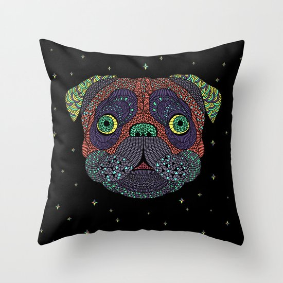 Intergalactic Dog Throw Pillow