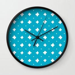 White crosses stitches Wall Clock