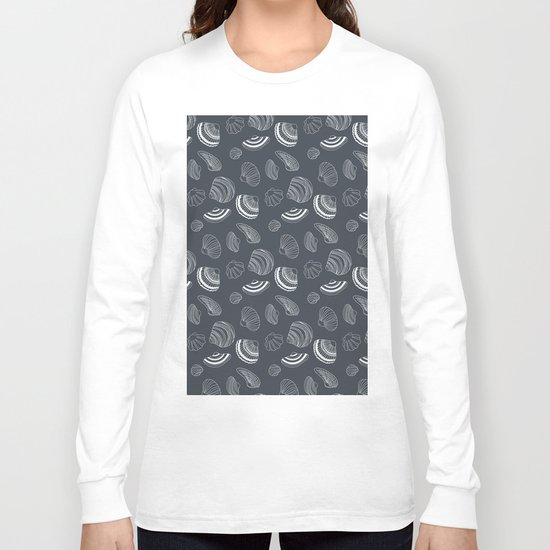 Tropical pattern with sea shells Long Sleeve T-shirt