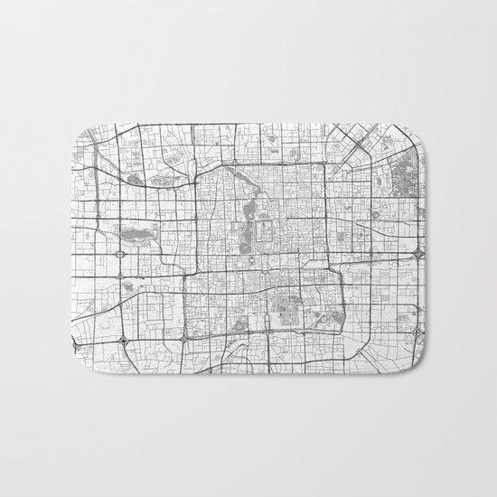 Beijing Map Line Bath Mat