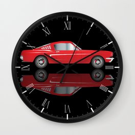 Very Fast Red Car Wall Clock