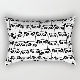 Cute Black & White Panda Pattern Rectangular Pillow