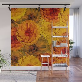 Warm and multicolored flowers Wall Mural