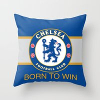 chelsea Throw Pillows featuring Chelsea by DeBUM