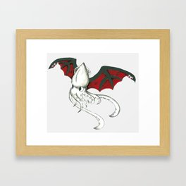 Squidpire Bat Framed Art Print