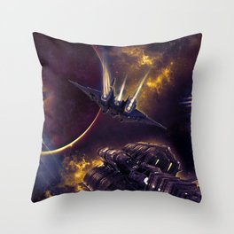 Space Chef Trilogy Throw Pillow